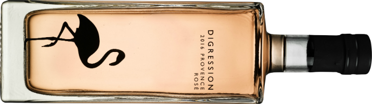 Bottle shot of Digression rosé