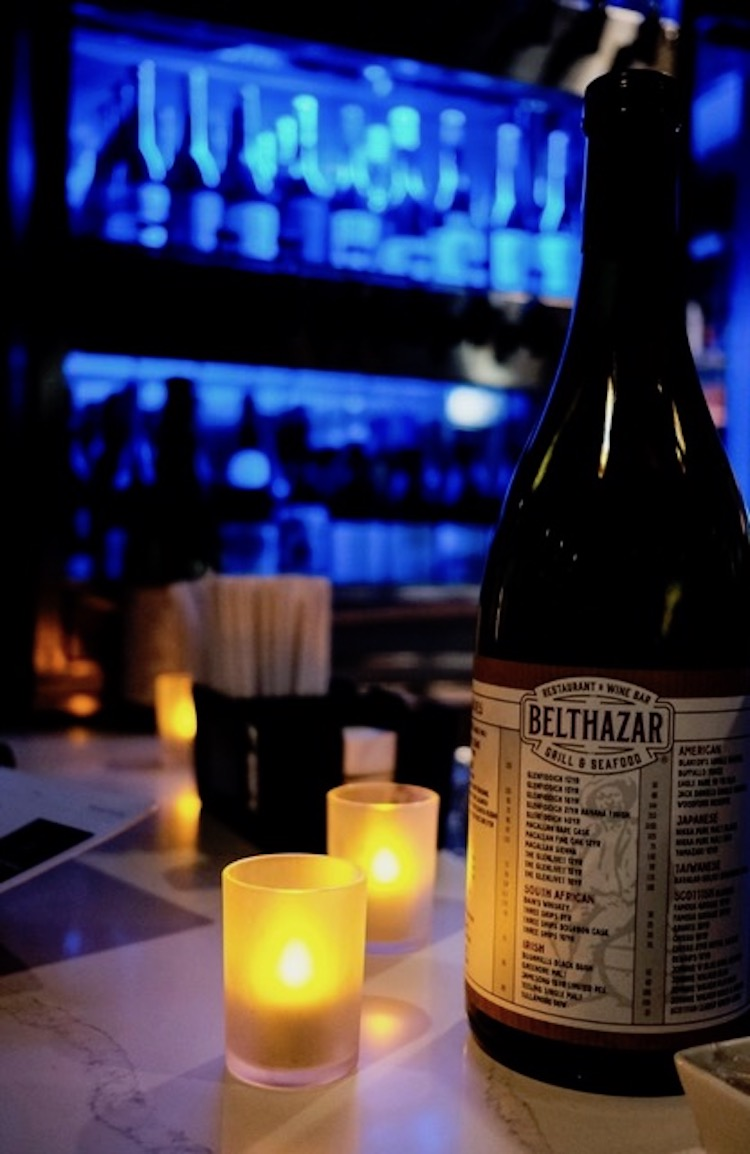 Belthazar wine bar in Cape Town