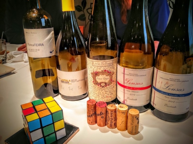 Wines from the list of El Clarete in Spain's Basque Country