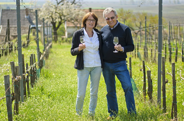 Evelyne and Erhard Heumann in their vineyard