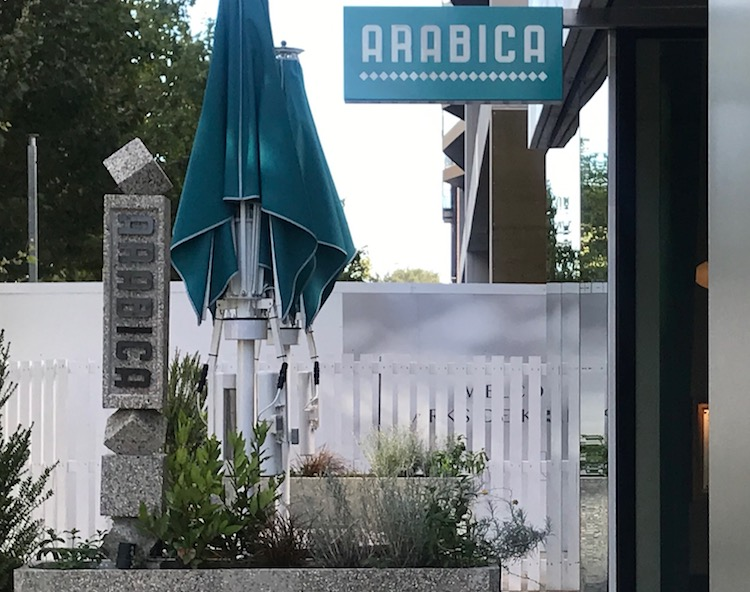 Exterior of Arabica restaurant in King's Cross
