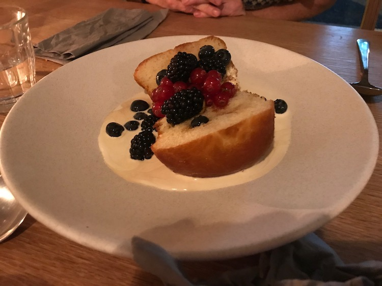 Rum baba at Ceres restaurant in Newington Green, London