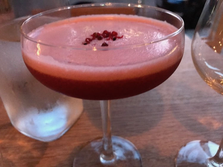 Plum, sour at Ceres restaurant in Newington Green, London