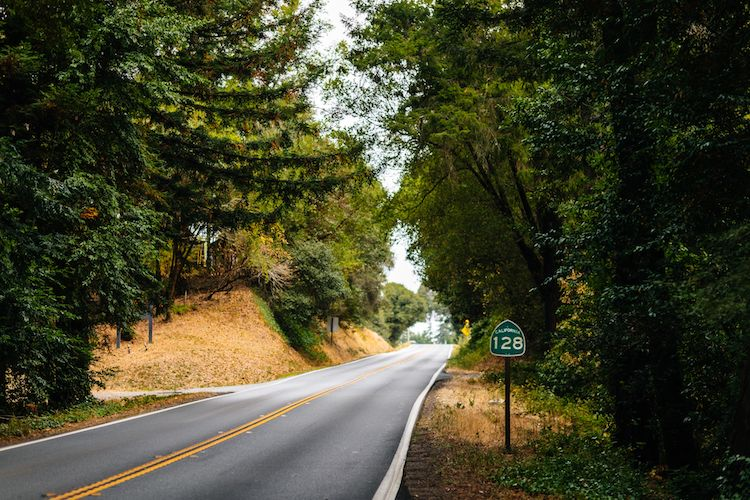 Highway 128 in Anderson Valley, northern California