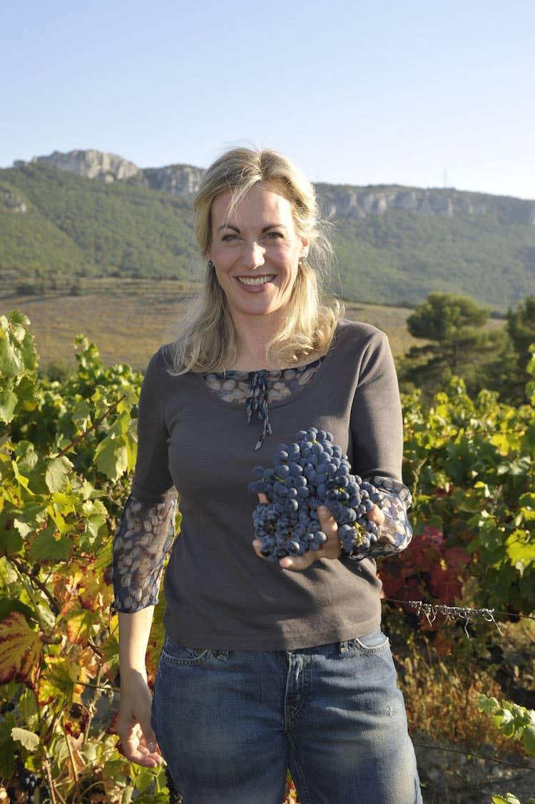Nicole Sierra-Rolet in her Chêne Bleu vineyard in Ventoux