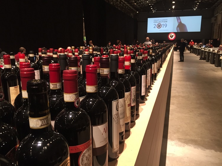 Chianti Classico anteprima 2019 in Florence - bottle line-up