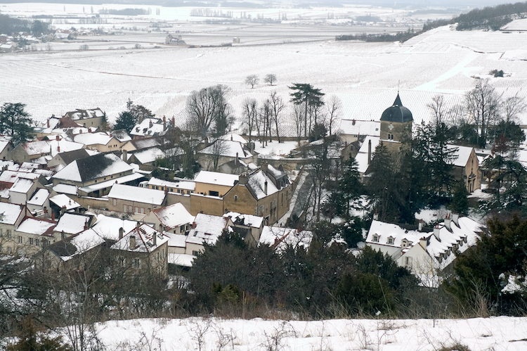 Chambolle-Musigny in snow