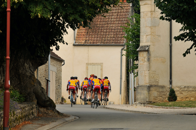 Sunday cyclists in Chambolle-Musigny
