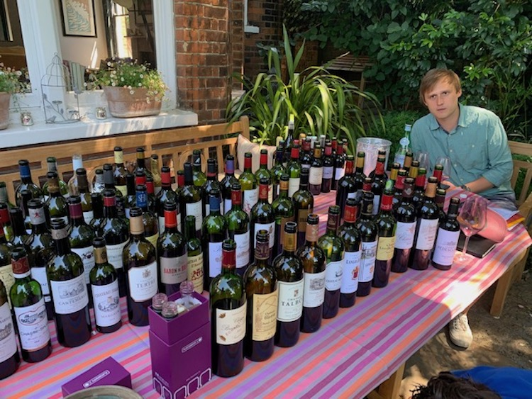 Tom Parker MW tastes 2019 bordeaux in a Wandsworth garden