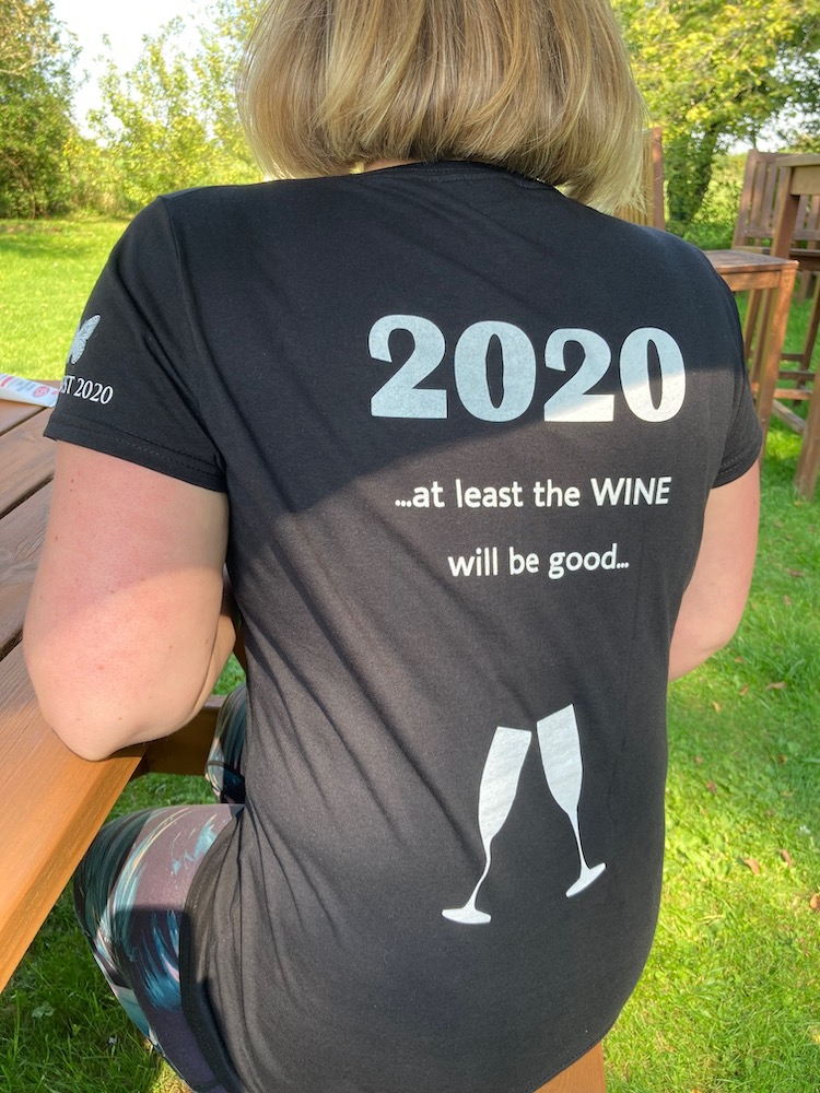 Emma Rice of Hattingley Valley with 2020 t-shirt
