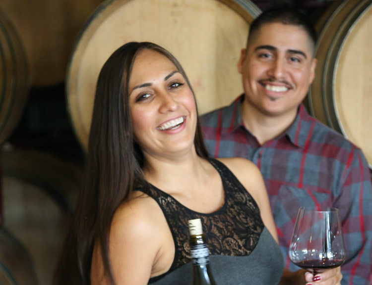 Elena Martinez and Stanley Barrios of Top Winery in Paso Robles