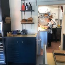 The kitchen at The Little Chartroom, Edinburgh