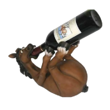 A novelty horse-shaped wine holder