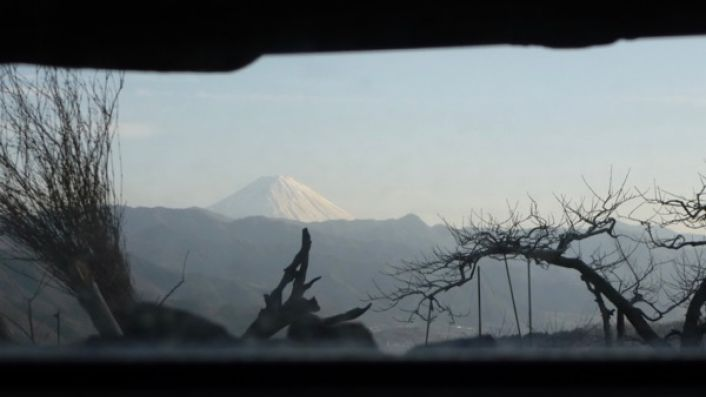 View from 98 Wines across to Mt Fuji