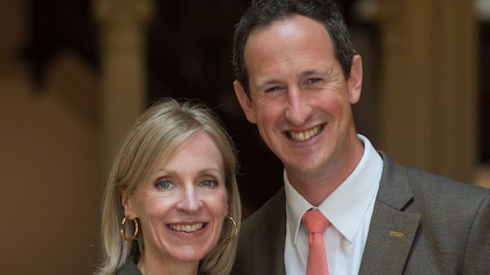 Susie Barrie and Peter Richards, married Masters of Wine with a special interest in English wine