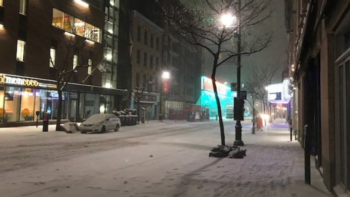 Snowy Montreal in early November 2019