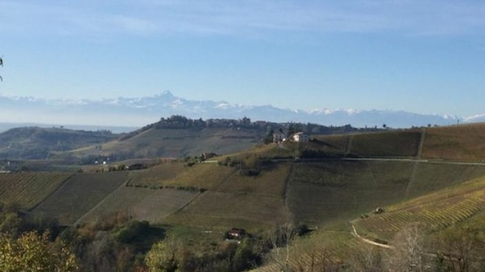 View of the alps from Monforte d'Alba