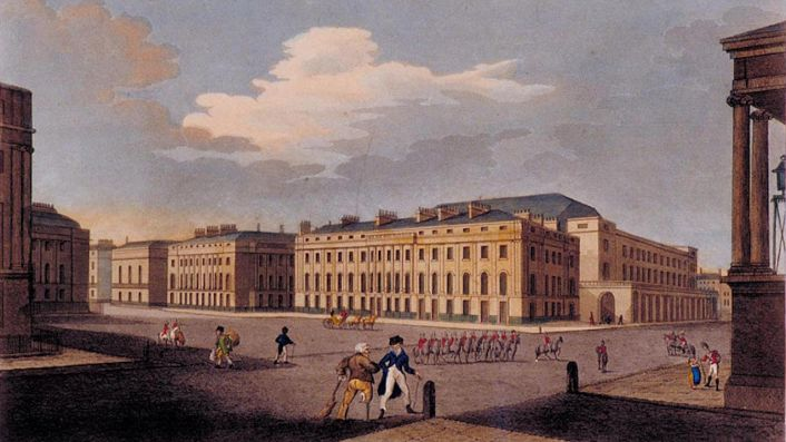 Waterloo Place, The Colonnade, Pall Mall, London in 1749