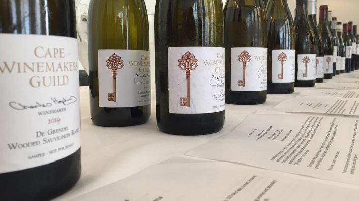 Tasting of Cape Wine Guild Auction wines in London, September 2020