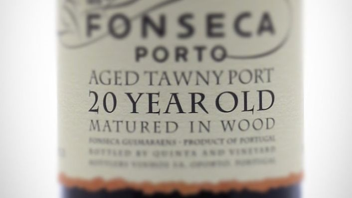 Fonseca 20 year old tawny port label