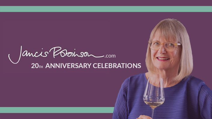 JancisRobinson.com 20th anniversary announcement
