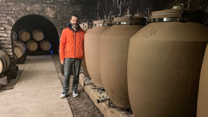 Jean-Marc Roulot of Meursault with cooked earth vessels
