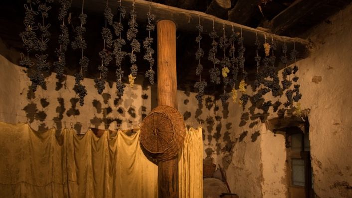 Grapes drying in a village near Zorah in Armenia