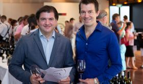 Matthew Jukes and Tyson Stelzer at the Great Australian Red tasting in Australia