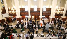 Aerial picture of Tyson Stelzer's champagne tasting in London
