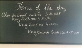 Krug menu of the day