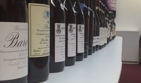 lineup of Barolo 2011 bottles