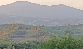 Monte Amiata as seen from San Polino estate in Montalcino
