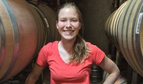 Samantha Cole-Johnson in Willamette barrel room
