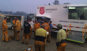 Salvation Army emergency food truck feeds those fighting Australia's 2019/20 bushfires