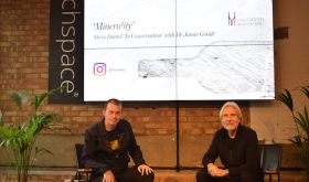 Dr Jamie Goode and Steve Daniel at minerality seminar in Shoreditch, January 2020