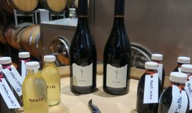 Tasting bottles and samples at Craggy Range winery