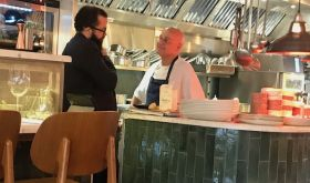Theo Kyriakou & Wade Munford at The Melusine restaurant in London