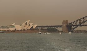 Bushfire smoke in Sydney in December 2019