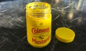 A jar of Colmans English mustard
