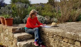 Katia on terrace 1