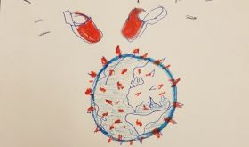 Katia's red clogs