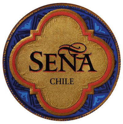 Label for Sena Chilean wine