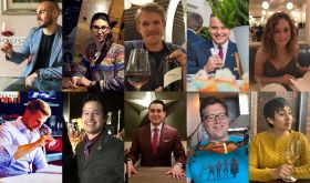 Headshots of the winners of the JancisRobinson.com hospo pairings competition
