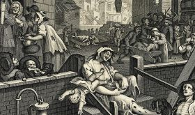 Detail of Hogarth's Gin Lane