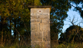Entrance pillar, Bass Phillip, Gippsland, Victoria, Australia