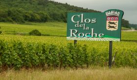 Clos de la Roche sign in Morey-St-Denis