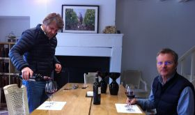 Aymeric de Gironde and James Lawther MW at Ch Troplong Mondot, St-Emilion