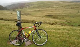 Nick Martin's bike in the Yorkshire Dales