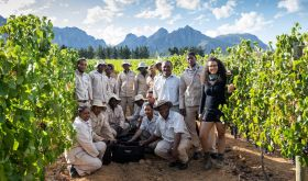 Kiara Scott and team at Brookdale Estate, South Africa