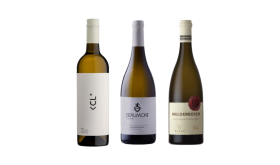 Bottle shots of three South African Chenin Blancs